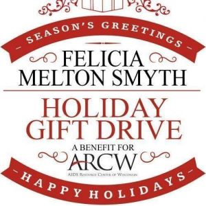 The logo for the Felicia Melton-Smyth Holiday Gift Drive