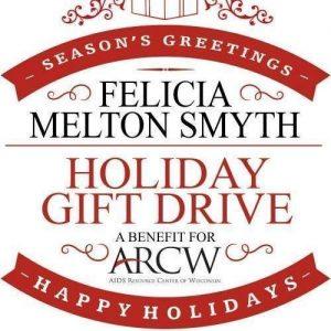 The logo for the Felicia Melton-Smyth Holiday Gift Drive